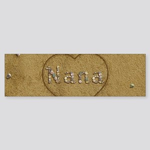 Nana Beach Love Sticker (Bumper)