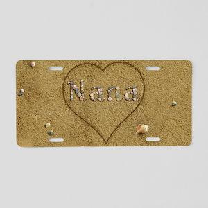 Nana Beach Love Aluminum License Plate