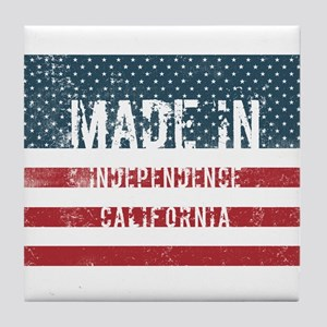 Made in Independence, California Tile Coaster