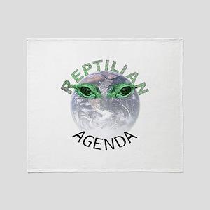Reptilian Agenda Throw Blanket