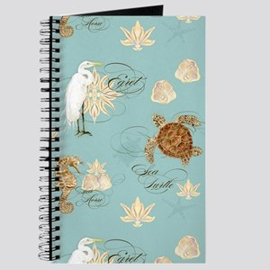 Beach Egret Sea Turtle Sea horse Shells Journal