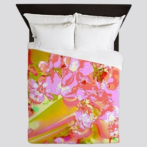 Abstract Spring Colors Queen Duvet