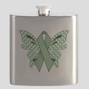 MINT GREEN RIBBON Flask