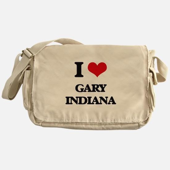 I love Gary Indiana Messenger Bag