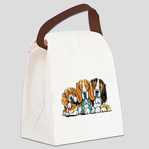 3 Beagles Canvas Lunch Bag