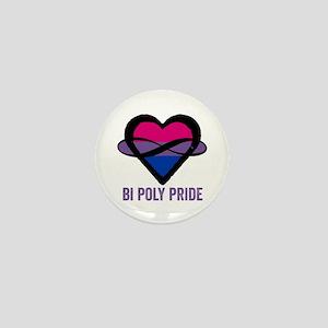 Bi Poly Heart Mini Button