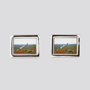 Above Chimney Rock Rectangular Cufflinks