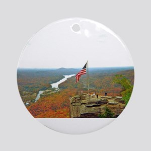 Above Chimney Rock Ornament (Round)