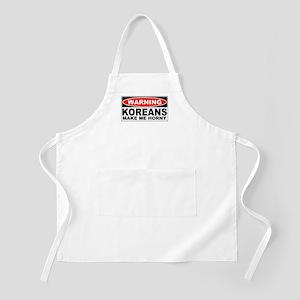 Warning Koreans Make Me Horny BBQ Apron