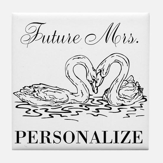 Future Mrs wedding bride Tile Coaster