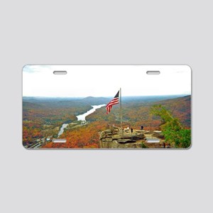 Above Chimney Rock Aluminum License Plate