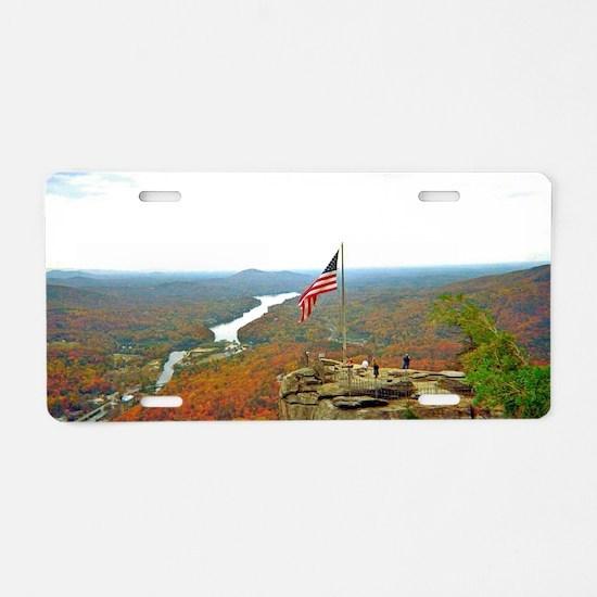 Above Chimney Rock Aluminum License Plate