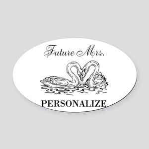 Future Mrs wedding bride Oval Car Magnet