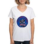 USS JAMES C. OWENS Women's V-Neck T-Shirt