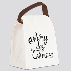 Every Day is Caturday Canvas Lunch Bag