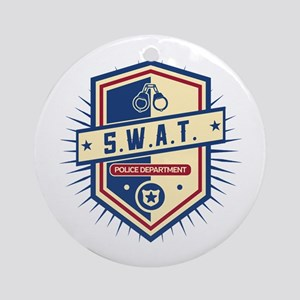 Police SWAT Crest Ornament (Round)