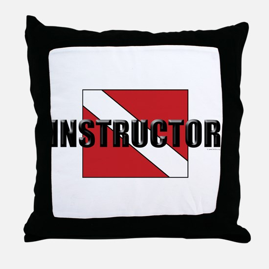 Funny Instructor Throw Pillow