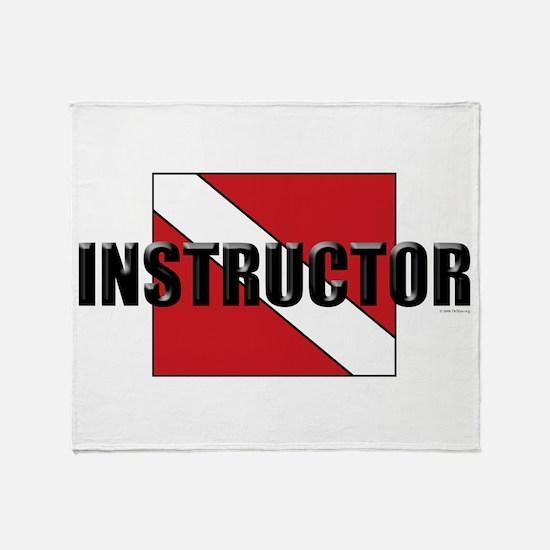 Cute Instructor Throw Blanket