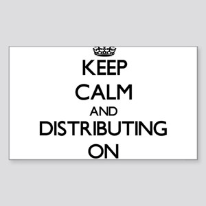 Keep Calm and Distributing ON Sticker