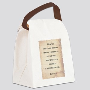 LAO-TZE QUOTE Canvas Lunch Bag