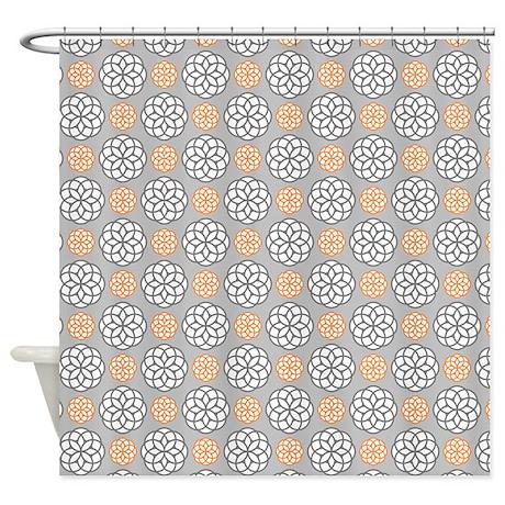 orange and gray shower curtain. Geometric Circles Orange  Gray Shower Curtain by Admin CP117476900