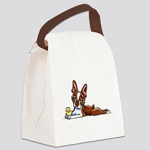 Colored Boston Canvas Lunch Bag