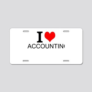 I Love Accounting Aluminum License Plate