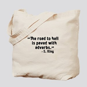 Road To Hell Adverbs Tote Bag