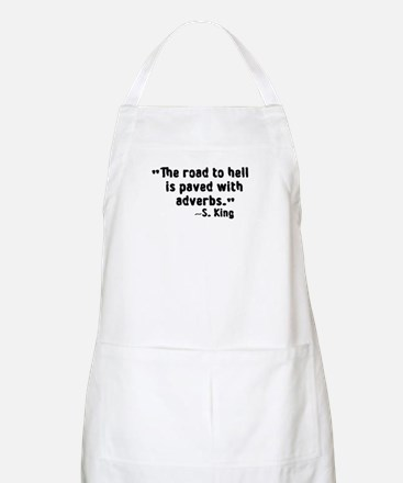 Road To Hell Adverbs BBQ Apron
