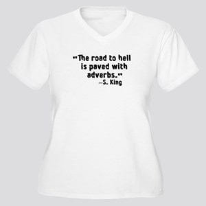 Road To Hell Adverbs Women's Plus Size V-Neck T-Sh