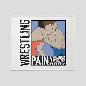 Wrestling Pain Throw Blanket