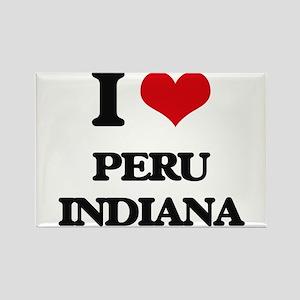 I love Peru Indiana Magnets