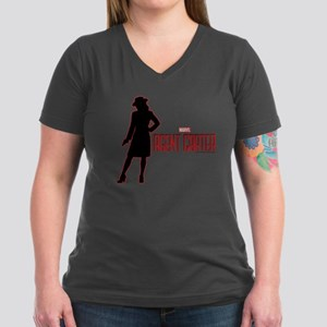 Agent Carter Red Women's V-Neck Dark T-Shirt