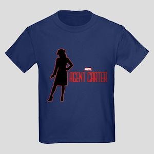 Agent Carter Red Kids Dark T-Shirt