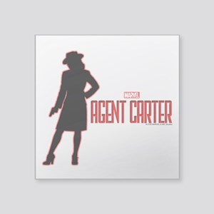 """Agent Carter Red Square Sticker 3"""" x 3"""""""