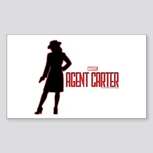 Agent Carter Red Sticker (Rectangle)