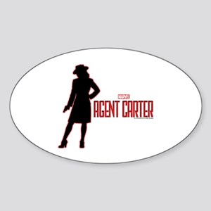 Agent Carter Red Sticker (Oval)