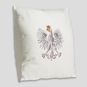 Poland Coat of arms Burlap Throw Pillow