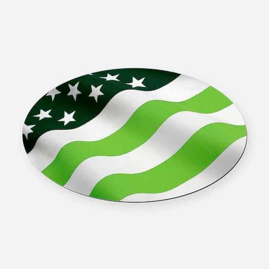 Green flag (ecology) Oval Car Magnet