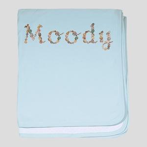 Moody Seashells baby blanket