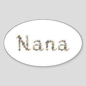 Nana Seashells Oval Sticker