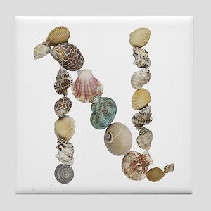 N Seashells Tile Coaster