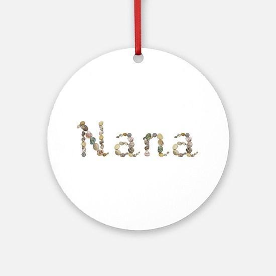 Nana Seashells Round Ornament