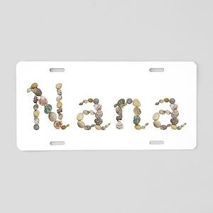 Nana Seashells Aluminum License Plate