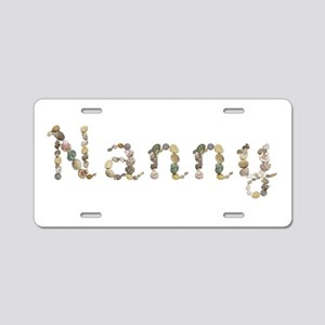 Nanny Seashells Aluminum License Plate