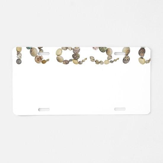 Nash Seashells Aluminum License Plate