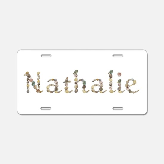 Nathalie Seashells Aluminum License Plate