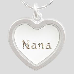 Nana Seashells Silver Heart Necklace