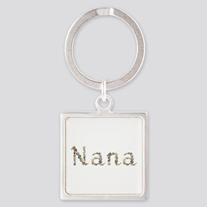 Nana Seashells Square Keychain
