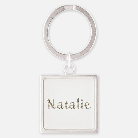 Natalie Seashells Square Keychain